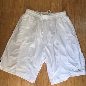 Jordan white basketball shorts. 3XL